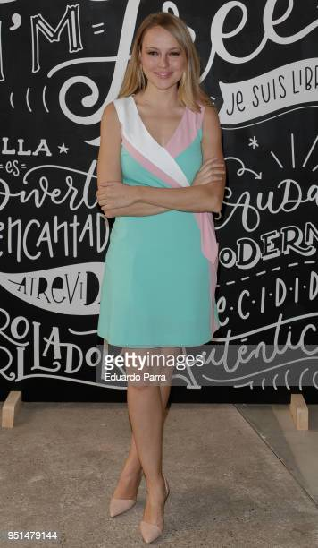 Actress Esmeralda Moya attends the 'DIM 60th anniversary' photocall at Ephimera space on April 26 2018 in Madrid Spain