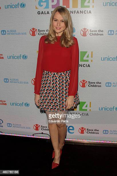 Actress Esmeralda Moya attends the Gala for Children photocall at Magarinos sports center on December 22 2014 in Madrid Spain