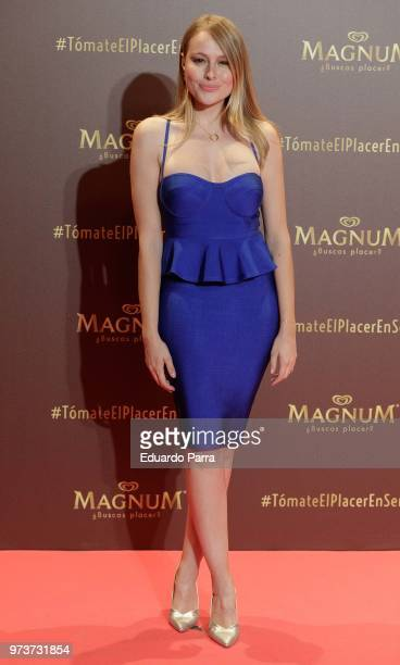 Actress Esmeralda Moya attends the 'Magnum' photocall at Gran Maestre theatre on June 13 2018 in Madrid Spain