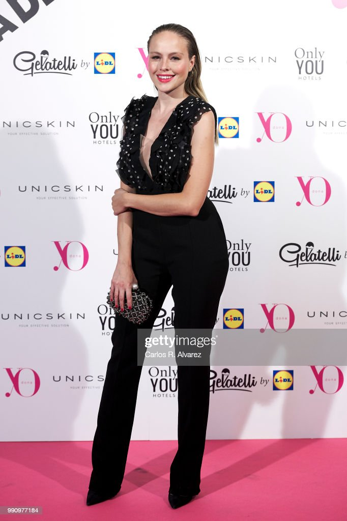 Actress Esmeralda Moya attends the 'Yo Dona' party at Only You Hotel Atocha on July 3, 2018 in Madrid, Spain.