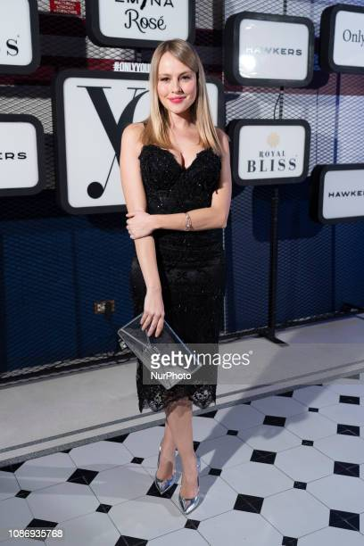 Actress Esmeralda Moya attends 'Yo Dona' Mercedes Benz Fashion Week Madrid Autumn/Winter 201920 party at the Only You Hotel on January 22 2019 in...
