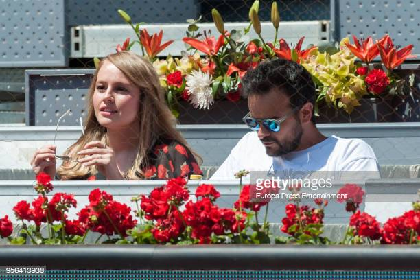 Actress Esmeralda Moya during day three of the Mutua Madrid Open tennis tournament at the Caja Magica on May 8 2018 in Madrid Spain