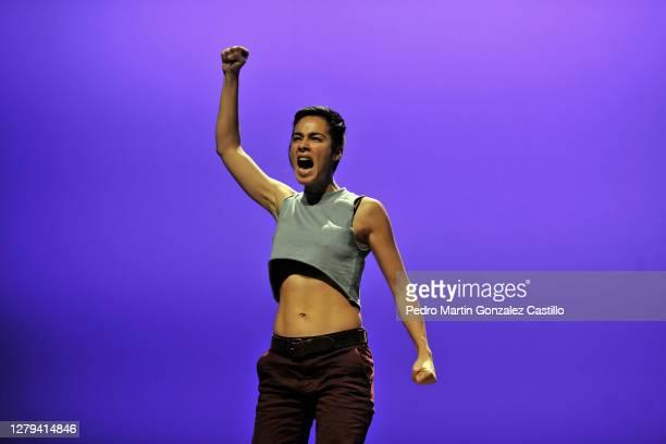 Actress Esmeralda Pimentel during a rehearsal of the play 'Los Vuelos Solitarios' by Director Adrián Vázquez at Teatro de La Ciudad on October 9 2020...