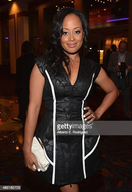 Actress Essence Atkins arrives to the premiere of Open Road Films' 'A Haunted House 2' at Regal Cinemas LA Live on April 16 2014 in Los Angeles...
