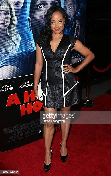 Actress Essence Atkins attends the premiere of Open Road Films' A Haunted House 2 at Regal Cinemas LA Live on April 16 2014 in Los Angeles California