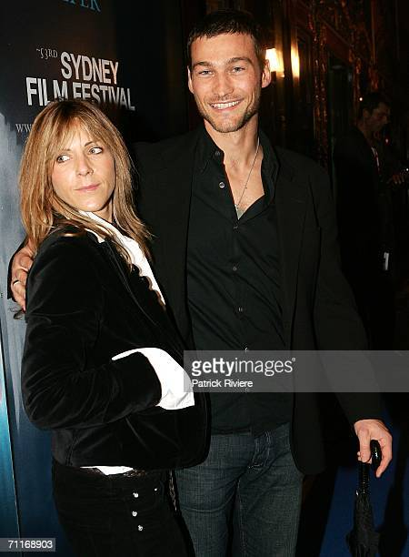 Actress Essie Davis and actor Andy Whitfield attend the Sydney Film Festival Opening Night at the State Theatre June 9 2006 in Sydney Australia