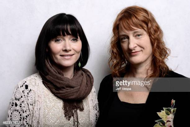 Actress Essie Davis and Jennifer Kent pose for a portrait during the 2014 Sundance Film Festival at the WireImage Portrait Studio at the Village At...
