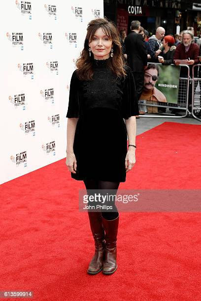 Actress Essie Davis attends the 'Mindhorn' World Premiere screening during the 60th BFI London Film Festival at Odeon Leicester Square on October 9...