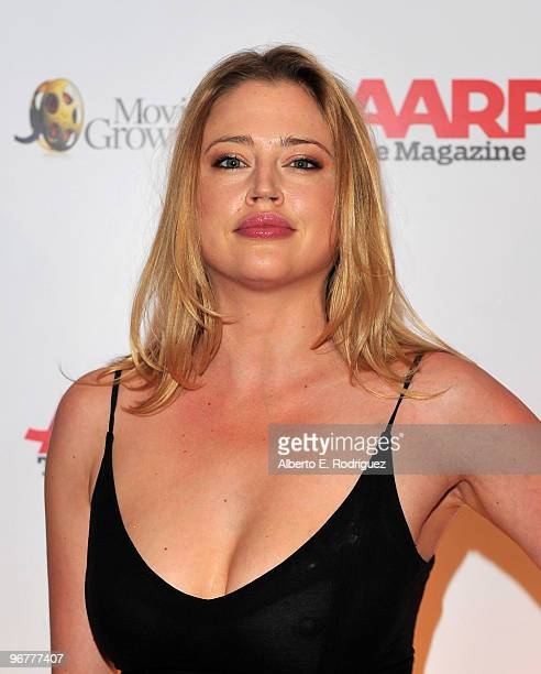 Actress Estella Warren arrives at AARP Magazine's 9th Annual Movies for Grownups Awards at The Beverly Wilshire Hotel on February 16 2010 in Beverly...