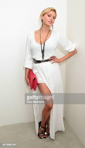 Actress Estella Warren attending KM Fine Arts Presents 'Tete A Tete' A Group Show at KM Fine Arts LA Studio on May 17 2014 in Los Angeles California