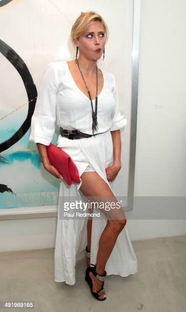 Actress Estella Warren attending KM Fine Arts Presents Tete A Tete A Group Show at KM Fine Arts LA Studio on May 17 2014 in Los Angeles California