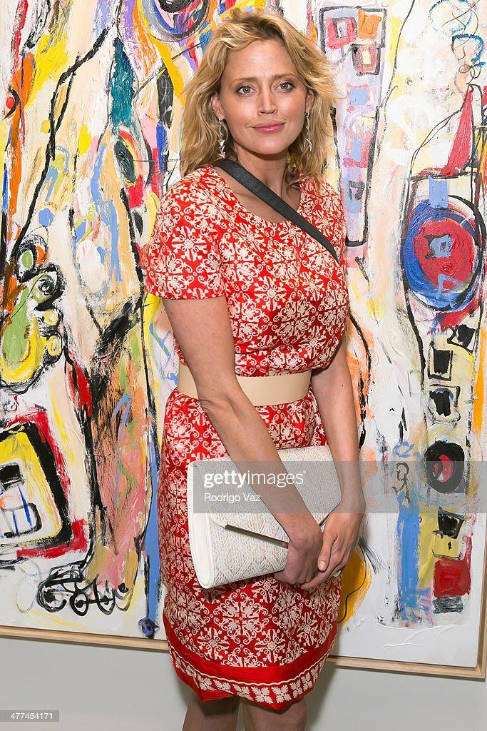 Actress Estella Warren attends Alexander Yulish 'An Unquiet Mind' VIP Opening Reception at KM Fine Arts LA Studio on March 8, 2014 in Los Angeles, California.