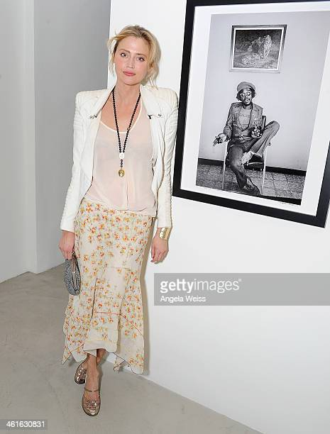 Actress Estella Warren attends Bob Marley I And Eye The Photos Of Kim GottliebWalker19751976 Private Preview Reception at KM Fine Arts LA Studio on...