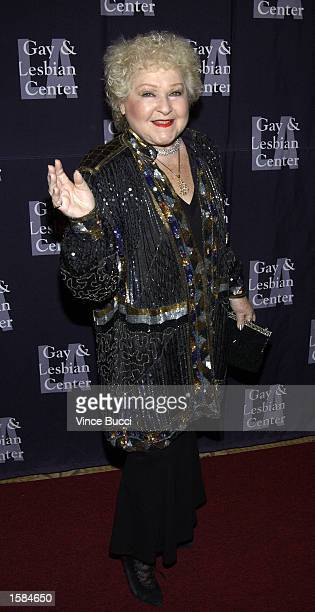 Actress Estelle Harris attends the Los Angeles Gay and Lesbian Center's 31st Anniversary Gala on November 2 2002 in Los Angeles California Actress...
