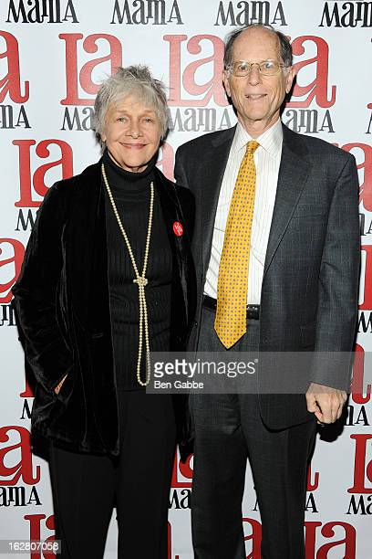 Actress Estelle Parsons and husband Peter Zimroth attend the La Mama Celebrates 51 Gala at Ellen Stewart Theatre on February 27 2013 in New York City