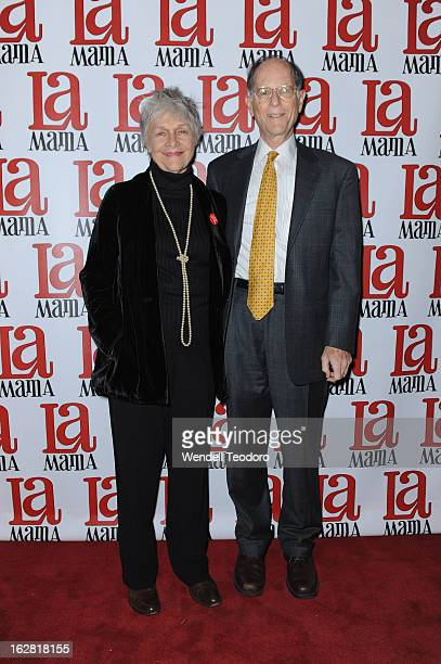 Actress Estelle Parsons and Peter Zimroth attends the La Mama Celebrates 51 Gala at Ellen Stewart Theatre on February 27 2013 in New York City