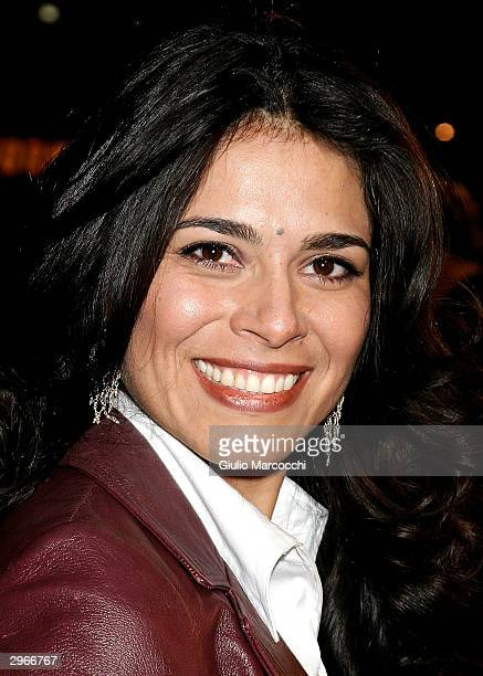 Actress Estephania LeBaron arrives at the Los Angeles premiere of Fox's Welcome to Mooseport February 10 2004 in Westwood California