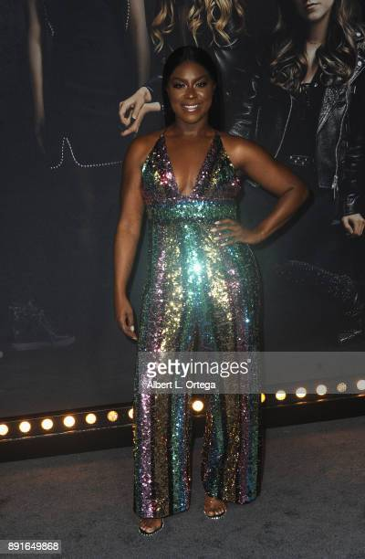 Actress Ester Dean arrives for the Premiere Of Universal Pictures' 'Pitch Perfect 3' held at The Dolby Theater on December 12 2017 in Hollywood...