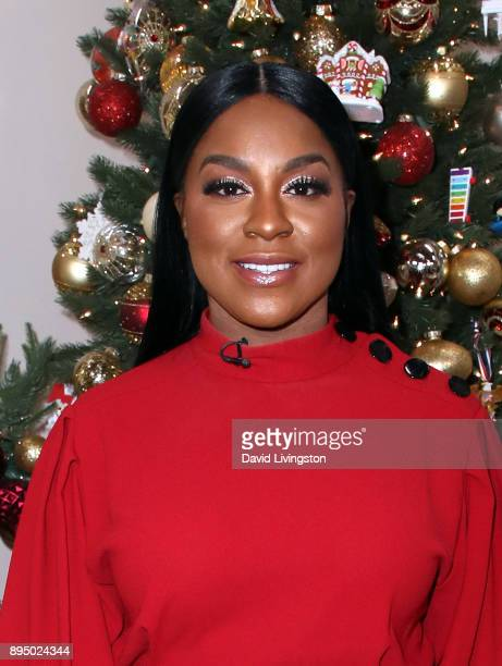 Actress Ester Dean visits Hallmark's 'Home Family' at Universal Studios Hollywood on December 18 2017 in Universal City California