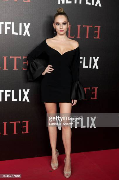 Actress Ester Exposito attends 'Elite' premiere at Reina Sofia Museum on October 2 2018 in Madrid Spain