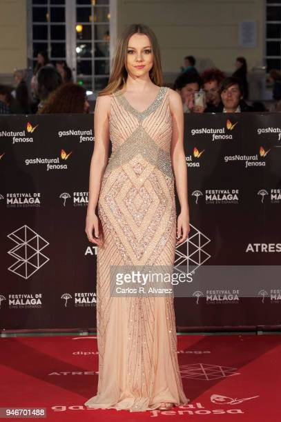 Actress Ester Exposito attends 'No Dormiras' premiere at the Cervantes Theater on April 15 2018 in Malaga Spain