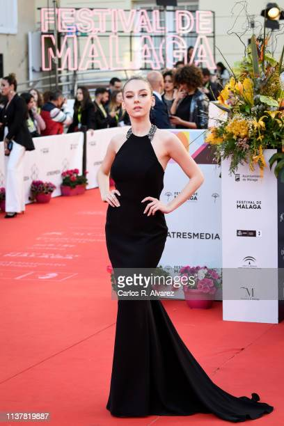 Actress Ester Exposito attends the Malaga Film Festival 2019 closing day gala at Cervantes Theater on March 23 2019 in Malaga Spain