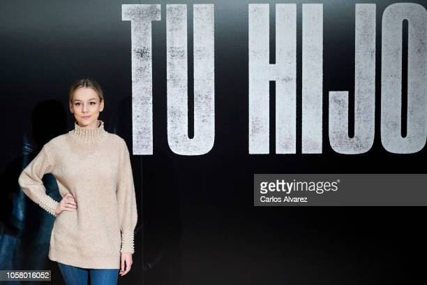 Actress Ester Exposito attends 'Tu Hijo' photocall at Urso Hotel on November 6 2018 in Madrid Spain