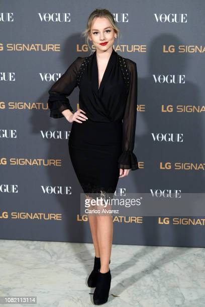 Actress Ester Exposito attends 'Vogue LG Signature' photocall at Carlos Maria de Castro Palace on December 13 2018 in Madrid Spain