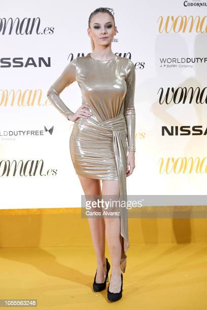 Actress Ester Exposito attends Woman awards 2018 at the Casino de Madrid on October 30 2018 in Madrid Spain