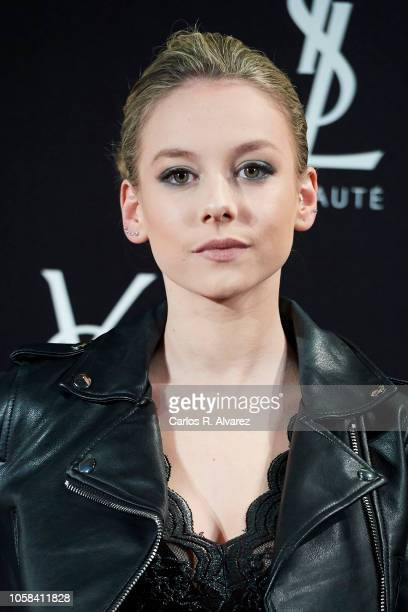 Actress Ester Exposito attends 'YSL Beaute THE SLIM Rouge PurCouture' party at the Santona Palace on November 6 2018 in Madrid Spain
