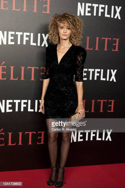 Actress Esther Acebo attends 'Elite' premiere at Reina Sofia Museum on October 2 2018 in Madrid Spain