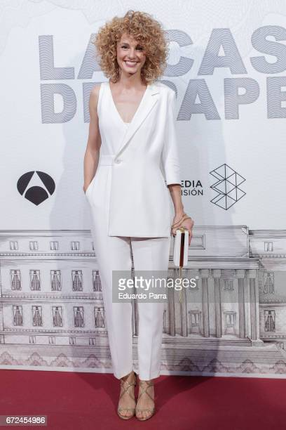 Actress Esther Acebo attends the 'La casa de papel' photocall at Gran Via cinema on April 24 2017 in Madrid Spain