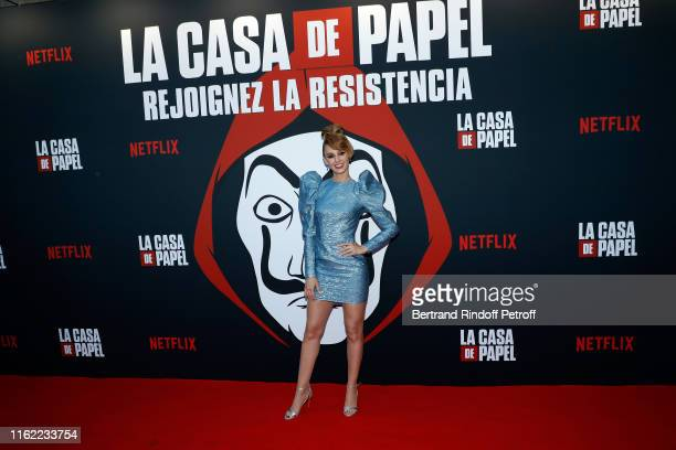 Actress Esther Acebo attends the La Casa De Papel Premiere At Monnaie De Paris on July 15 2019 in Paris France