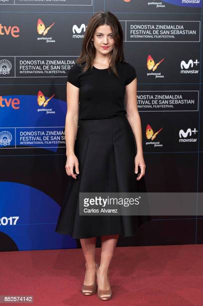 Actress Esther Garrel attends 'El Autor' premiere during 65th San Sebastian Film Festival on September 23 2017 in San Sebastian Spain