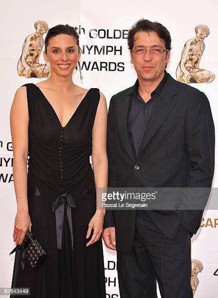 Actress Esther Ortega and producer Miguel Angel Bernardeau attend the Golden Nymph awards ceremony during the 2008 Monte Carlo Television Festival...