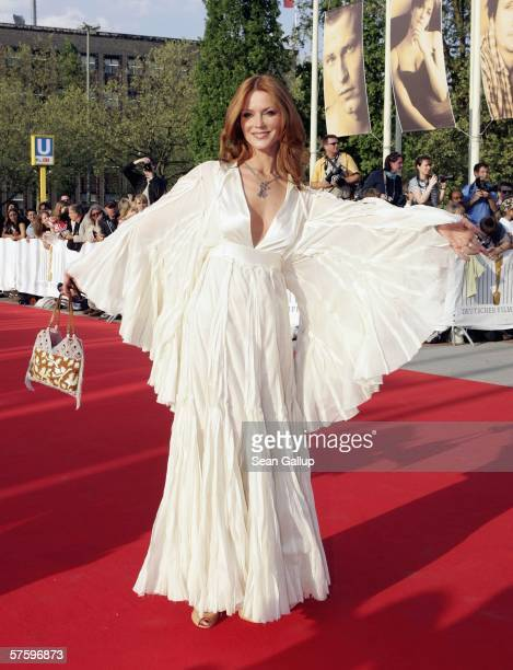 Actress Esther Schweins arrives at the German Film Awards at the Palais am Funkturm May 12 2006 in Berlin Germany