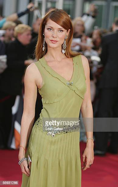 Actress Esther Schweins arrives at the German Television Awards at the Coloneum on October 15 2005 in Cologne Germany