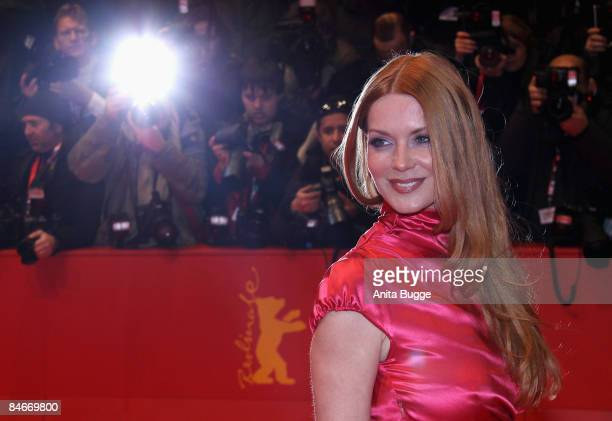 Actress Esther Schweins attends the premiere for 'The International' as part of the 59th Berlin Film Festival at the Berlinale Palast on February 5,...