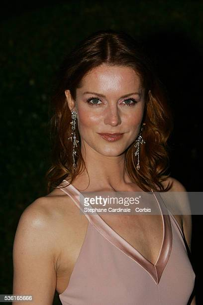 Actress Esther Schweins attends the Shrek 2 party after the Cannes premiere of Andrew Adamson Kelly Asbury and Conrad Vernon's animation movie in...