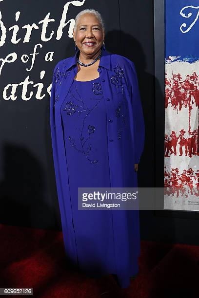 Actress Esther Scott arrives at the Premiere of Fox Searchlight Pictures' The Birth Of A Nation at the ArcLight Cinemas Cinerama Dome on September 21...