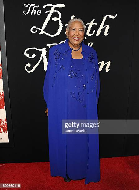 Actress Esther Scott attends the premiere of The Birth of a Nation at ArcLight Cinemas Cinerama Dome on September 21 2016 in Hollywood California