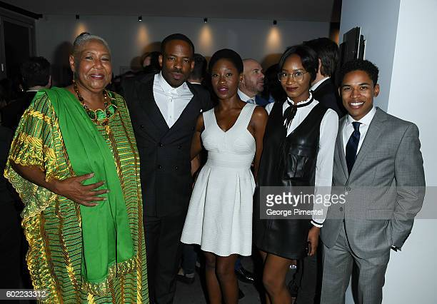 Actress Esther Scott Chike Okonkwo actress Olumike Adeliyi Alesha Bailey and guest attend 'The Birth Of A Nation' Party during the 2016 Toronto...