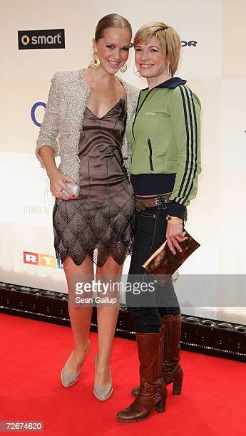 Actress Esther Seibt and television hostess Jessica Kastrop attend the Tribute to Bambi charity gala traditionally held a night before the annual...