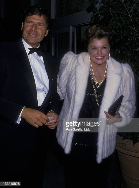 Actress Esther Williams and Ed Bell sighted on October 6 1988 at the Beverly Hilton Hotel in Beverly Hills California