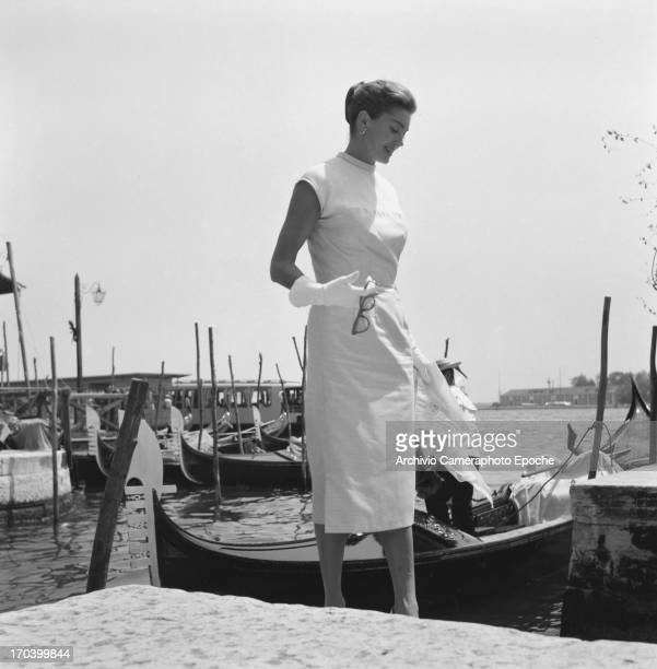 Actress Esther Williams in Venice Italy September 1957