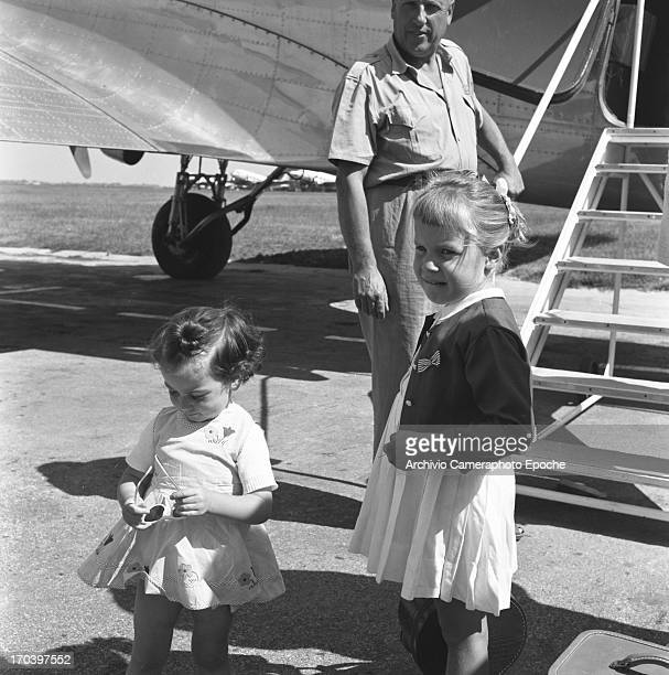 Actress Esther Williams with her family in Venice Italy September 1957