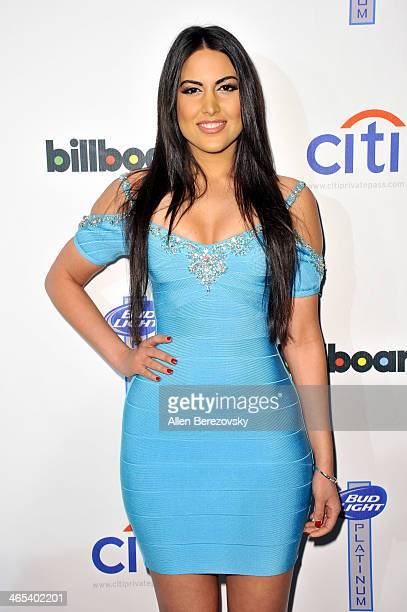 Actress Estrella Nouri attends the Citi and Bud Light Platinum's 2nd Annual Billboard After Party at The London West Hollywood on January 26 2014 in...