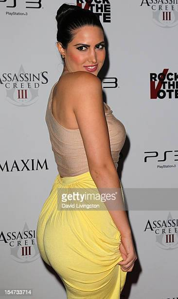 Actress Estrella Nouri attends the Maxim and Rock the Vote celebration of the launch of Ubisoft's Assassin's Creed III at The Colony on October 24...
