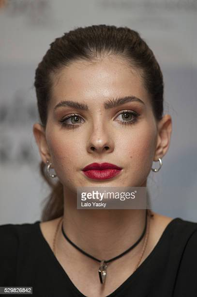 Actress Eugenia 'La China' Suarez attends a press conference to present 'El Hilo Rojo' at the Four Seasons Hotel on May 9 2016 in Buenos Aires...