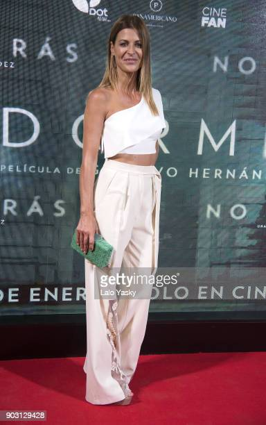Actress Eugenia Tobal attends the 'No Dormiras' premiere at the Hoyts Dot Baires cinema on January 9 2018 in Buenos Aires Argentina